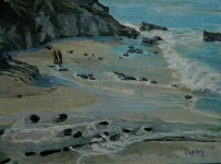 GEORGE TAPLEY (home)          Seascapes and Beach Scenes oil on panel