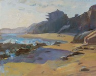 GEORGE TAPLEY (home)          Laguna Beach & Crystal Cove oil/panel