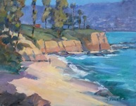 GEORGE TAPLEY (home)          Laguna Beach & Crystal Cove oil on panel