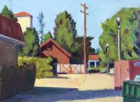 GEORGE TAPLEY (home)          Urban Scenes 0il on panel