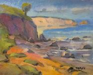 GEORGE TAPLEY (home)          Seascapes and Beach Scenes oil on  canvas