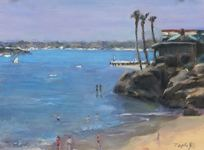 GEORGE TAPLEY (home)          Laguna Beach & Crystal Cove 0il on board