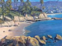 GEORGE TAPLEY (home)          Laguna Beach & Crystal Cove oil on board