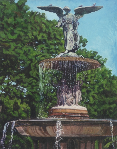 "- Main Artwork / Recent Paintings ""Bethesda Fountain Angel"""