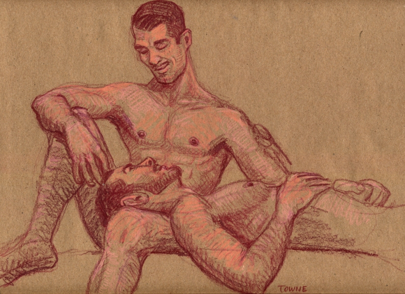 "- ""Erotic Life Drawings/Misc. Erotic Work"" - <i>Warning: Adult Content, please be 18 to view</i> ""Joey And James""  Life Drawing"