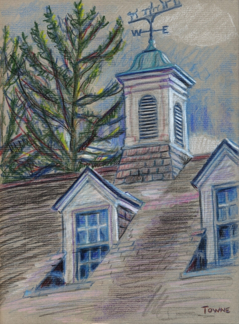 "- Main Artwork / Paintings Page 2 ""Timberfield Barn - Roof Study"""