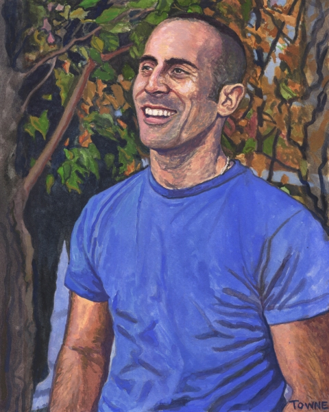 "- Main Artwork / Recent Paintings ""Joe With Trees"""