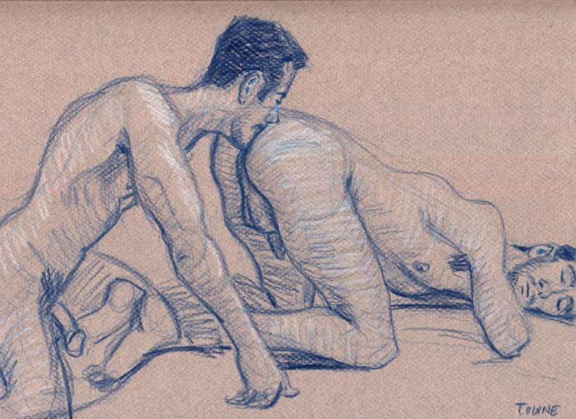 "- ""Erotic Life Drawings/Misc. Erotic Work"" - <i>Warning: Adult Content, please be 18 to view</i> ""Joey and Victor - Rim, Life Drawing"