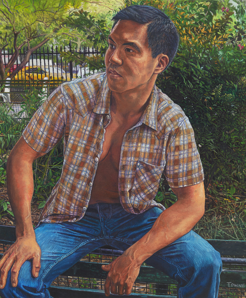 "- Main Artwork / Recent Paintings ""Conrad on Park Bench"""
