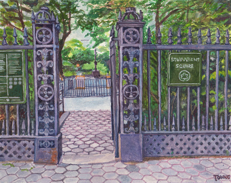 "- Main Artwork / Recent Paintings ""Stuyvesant Square Park Gates"""