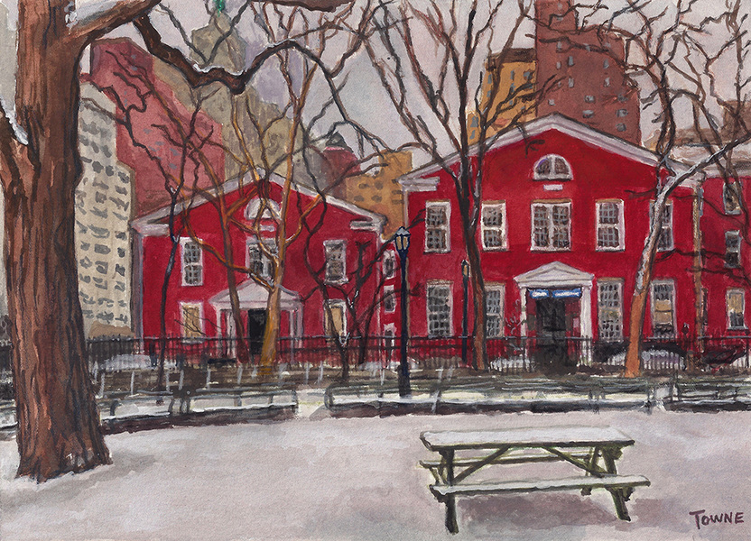 "- Main Artwork / Recent Paintings ""Stuyvesant Square Park - Winter"""