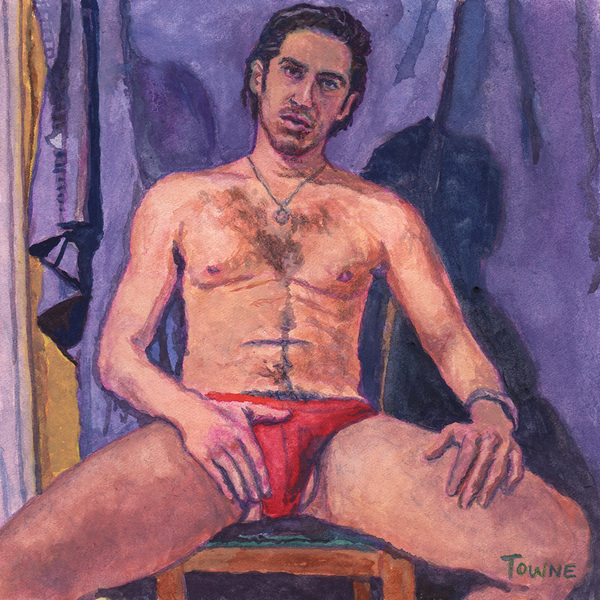 "- ""Erotic Life Drawings/Misc. Erotic Work"" - <i>Warning: Adult Content, please be 18 to view</i> ""Roberto - Red Underwear Bulge"""