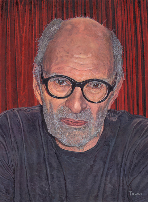 "- Main Artwork / Recent Paintings ""Portrait of Larry Kramer"""