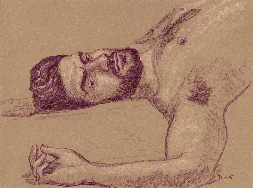 "- ""Erotic Life Drawings/Misc. Erotic Work"" - <i>Warning: Adult Content, please be 18 to view</i> ""Sam - Reclining"""