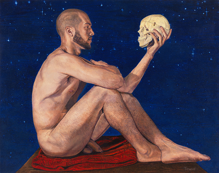 "- Main Artwork / Recent Paintings ""Gabriel with Skull"""