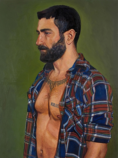 "- Main Artwork / Paintings Page 2 ""Fabio - Plaid Shirt"""