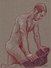 "- ""Erotic Life Drawings/Misc. Erotic Work"" - <i>Warning: Adult Content, please be 18 to view</i> Life Drawing - Colored Pencil on Toned Paper"