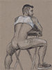 "- ""Erotic Life Drawings/Misc. Erotic Work"" - <i>Warning: Adult Content, please be 18 to view</i> Color Pencil on Toned Paper"