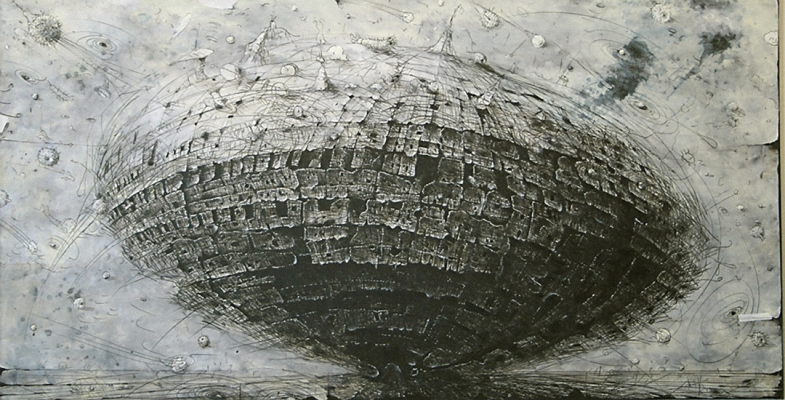 Gerry Bergstein Grisaille 2001-2006 oil on paper