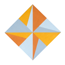 Untitled Yellow, Orange, and Grey Diamond
