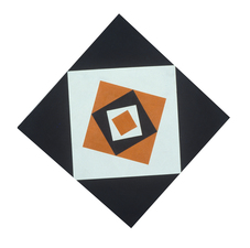 Untitled Black and Orange Diamond II