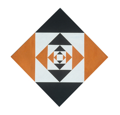 Untitled Black and Orange Diamond