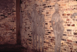 Gilda Pervin The Roda Sten Portland cement, sand, pigment, on brick wall