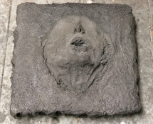 Gilda Pervin  Sculpture Portland cement, sand, acrylic medium and pigment. on wood