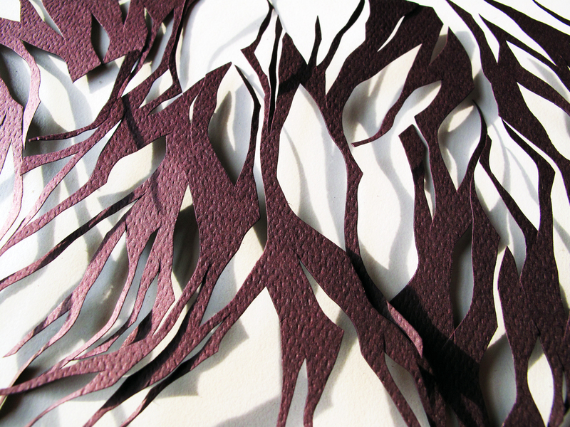 • CUT-OUTS suddenly it went from calm to agita, detail
