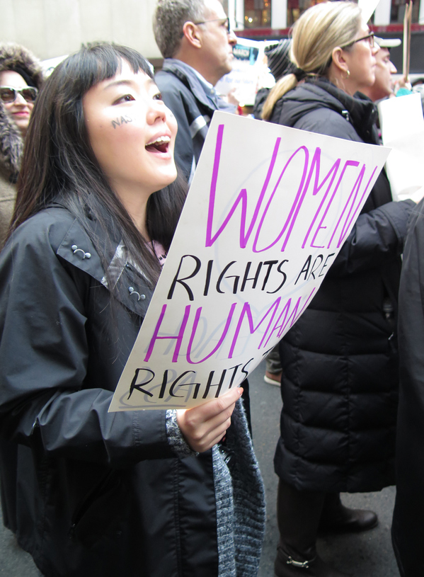 GINA FUENTES WALKER  Women's March NYC<br/>