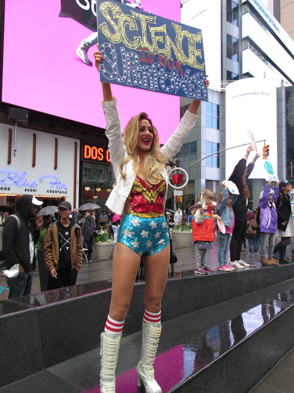 GINA FUENTES WALKER  Science Is Our Super Power - Science March, Times Square NYC<br/>