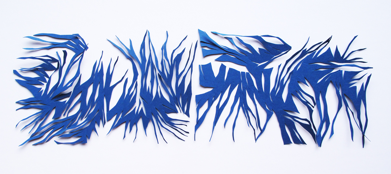 GINA FUENTES WALKER  cut-out no.7512, diptych<br/>