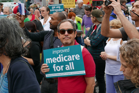 Gina Randazzo Medicare For All Rally Union Square NYC 7/24/17