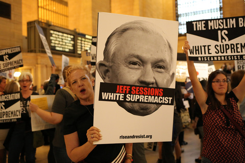 Gina Randazzo Rise And Resist Against White Supremacy NYC 9/18/17
