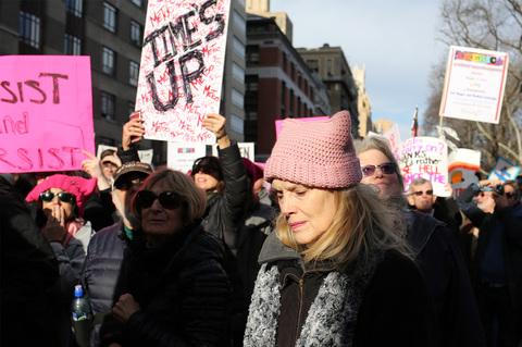 Gina Randazzo Women's March NYC 1/20/18