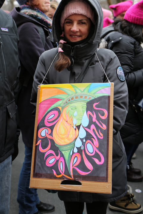 Gina Randazzo Women's March NYC 1/19/19