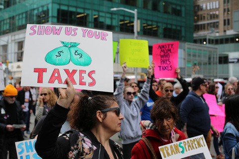 Gina Randazzo Tax March NYC 4/15/17