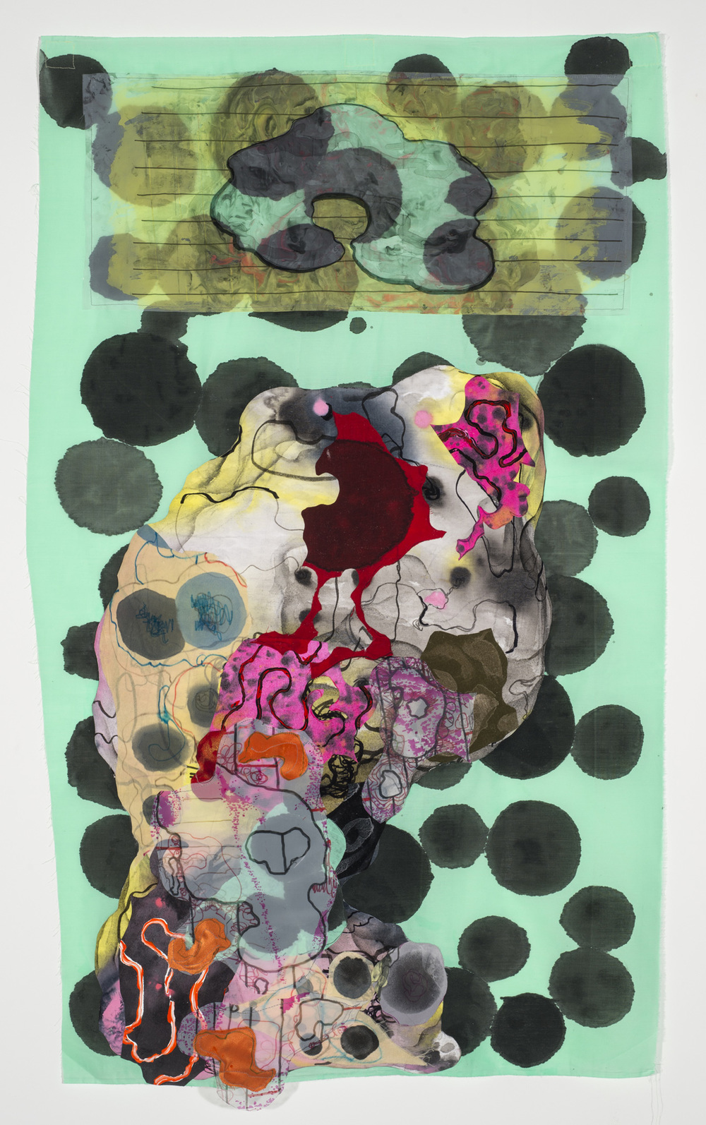 Gina Ruggeri Recent paintings 2016– Acrylic and ink on cloth