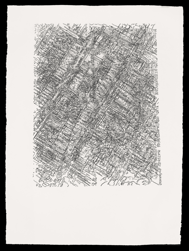 Gina Siepel Recursions graphite on paper