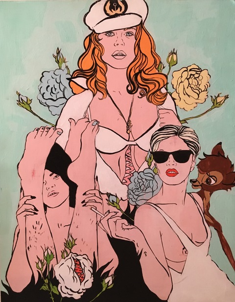 Ginna Triplett 2011-2015 acrylic and gouache on wood panel