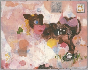 Ginna Triplett 2001-2005 paper, flashe, gouache, and collage on canvas