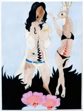 Ginna Triplett 2006-2010 carbon, flashe, gouache, and acrylic on paper