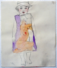 Ginna Triplett 2001-2005 carbon and watercolor on paper