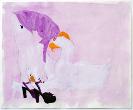 Ginna Triplett 2006-2010 carbon, flashe, and gouache on paper