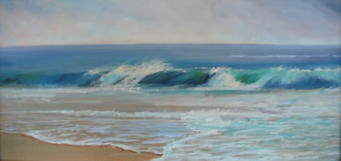 DANA GOODFELLOW WAVE ACTION OIL ON LINEN