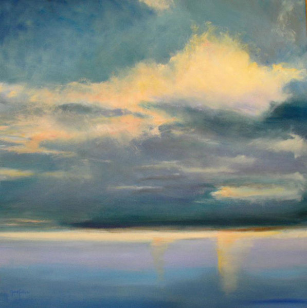 DANA GOODFELLOW SEA AND WETLANDS OIL ON LINEN