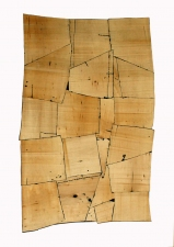 Gordon Powell Past Work basewood and dyed glue