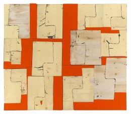 Gordon Powell Recent Work found wood, mdf, dyed glue, oil paint and pencil