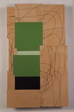 Gordon Powell Recent Work oil on mdf with laser cut lines
