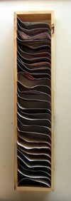 2006 cut acrylic paintings, wood